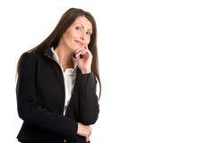 Penser de femme d'affaires Photographie stock libre de droits