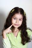 Penser de petite fille Image libre de droits