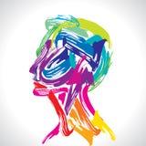 Penser de tête humaine. Images libres de droits