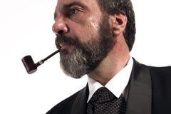 Penser et fumer Image libre de droits