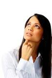 Penser ethnique de femme photos stock