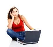 Penser femelle d'adolescent Image libre de droits