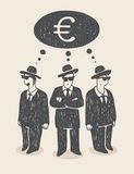 Penser à l'argent Image libre de droits