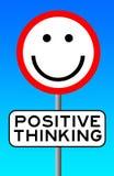Penser positif illustration stock