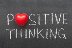Penser positif Images libres de droits