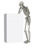Penser squelettique Images stock