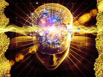 Pensées moléculaires Image libre de droits