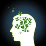 Pensées ou idées vertes originales Photo stock