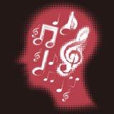 Pensez à la musique Image stock