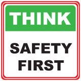 Pensez à la sécurité Photo stock