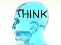 Pensez 5 Photos libres de droits