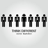 Pensez différent illustration stock