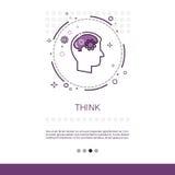 Pensez la bannière de processus créative de Web d'affaires de nouvelle inspiration d'idée avec l'espace de copie illustration de vecteur