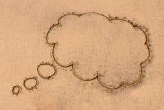 Pensez la bulle Images libres de droits
