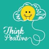 Pensez la conception positive Photos stock