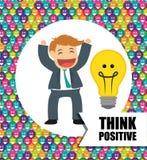 Pensez la conception positive Images stock