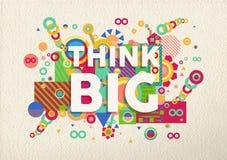 Pensez la grande conception d'affiche de citation Photo libre de droits