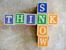 Pensez la neige Photo stock