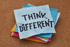 Pensez le concept différent images stock
