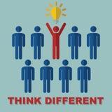 Pensez le concept différent Images libres de droits