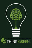 Pensez le fond vert 3 de concept - vecteur Images libres de droits