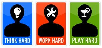 Pensez le jeu de travail Images libres de droits