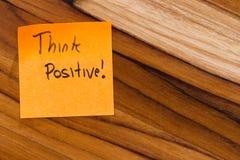 Pensez le positif Photographie stock libre de droits