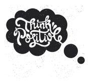 Pensez le positif Dactylographiez la conception Illustration de vecteur Photo libre de droits