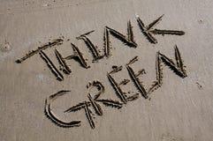 Pensez le vert Photographie stock libre de droits