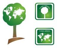 Pensez le vert Photo libre de droits