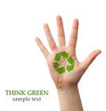 Pensez le vert Image libre de droits