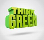 Pensez le vert illustration stock