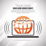 Pensez les affaires globales Image libre de droits
