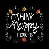 Pensez les pensées heureuses illustration libre de droits