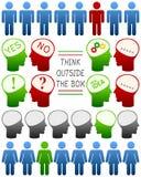 Pensez que différent pensez le positif illustration stock