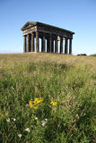 Penshaw Hilltop. Penshaw Monument in Sunderland, Tyne & Wear, Northeast England.  A folly on a hill by the banks of the River Wear. Designed by John and Benjamin Stock Image