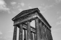 Penshaw Monument. Black and white stock photo