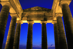 Penshaw Monument. A folly on a hill by the banks of the River Wear, Sunderland. Designed by John and Benjamin Green and dedicated to John George Lambton, first Stock Photo