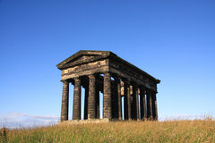 Penshaw Monument. In Sunderland, Tyne & Wear, Northeast England.  A folly on a hill by the banks of the River Wear. Designed by John and Benjamin Green and Royalty Free Stock Image