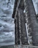 Modern columns stock photo
