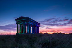 Penshaw Monument at Dusk Stock Photo