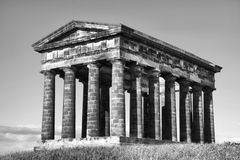 Penshaw Monument Mono. Penshaw Monument in Sunderland, Tyne & Wear, Northeast England.  A folly on a hill by the banks of the River Wear. Designed by John and Royalty Free Stock Photography