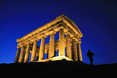 Penshaw Monument & Photographe. Penshaw Monument, a folly on a hill by the banks of the River Wear, Sunderland. Designed by John and Benjamin Green and dedicated Stock Photography