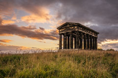 Penshaw Monument at Sunset Royalty Free Stock Photos