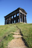 Penshaw Steps. Penshaw Monument in Sunderland, Tyne & Wear, Northeast England.  A folly on a hill by the banks of the River Wear. Designed by John and Benjamin Royalty Free Stock Photo