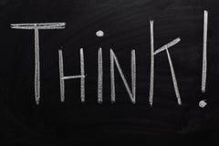 Pensi! Fotografia Stock