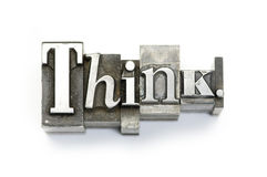 Pensi. Immagine Stock Libera da Diritti