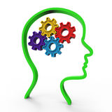 Pensi Brain Represents Considering Thinking And circa Fotografia Stock