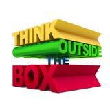 Pensi creativo il testo Fotografia Stock