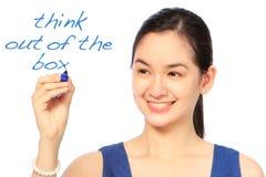 Pensi dalla scatola Fotografia Stock Libera da Diritti